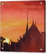 Wat Silhouette Acrylic Print