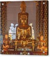 Wat Suan Dok Wihan Luang Buddha Images Dthcm0952 Acrylic Print
