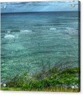 Watching From Afar Kuilei Cliffs Beach Park Surfing Hawaii Collection Art Acrylic Print