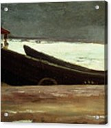Watching A Storm On The English Coast Acrylic Print by Winslow Homer