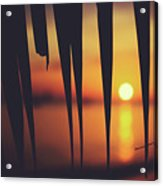 Watching Beautiful Caribbean Sunset From A Simple Beach Shack Acrylic Print