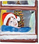 Watching For Santa Acrylic Print