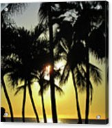 Watching The Hawaiian Sunset  Acrylic Print