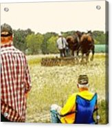 Watching The Man Work The Field Acrylic Print