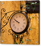 Watching The Time Acrylic Print