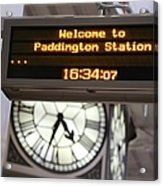 Watching Time At The Station Acrylic Print