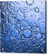 Water Abstraction - Blue Rain Acrylic Print