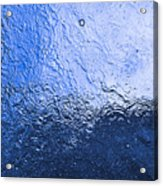Water Abstraction - Blue Reflection Acrylic Print