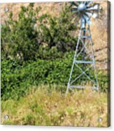 Water Aerating Windmill For Ponds And Lakes Acrylic Print