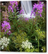 Water And Flowers Acrylic Print