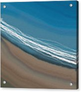 Water And Sand Acrylic Print