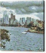Water And Skyline Acrylic Print