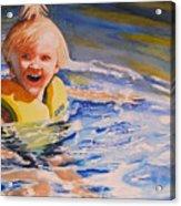 Water Baby Acrylic Print by Karen Stark