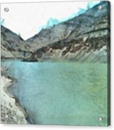 Water Body In The Himalayas Acrylic Print