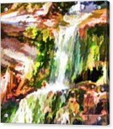 Water Cascading Acrylic Print