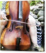 Water Cello  Acrylic Print
