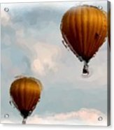 Water Color Balloons Acrylic Print