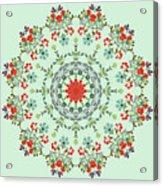 Water Color Garden Kaleidoscope Acrylic Print