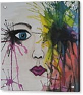 Water Colour - Face Acrylic Print