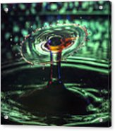 Water Drop Collision Acrylic Print