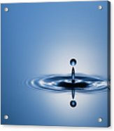 Water Drop In Blue 1 Acrylic Print