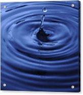 Water Drop Tempest Acrylic Print