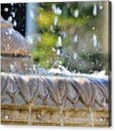 Water Drops. Acrylic Print