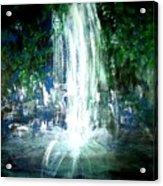 Water Falling Acrylic Print