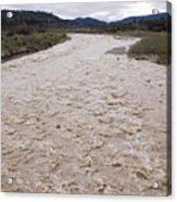 Water Flowing After Record-setting Acrylic Print by Rich Reid