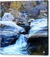 Water Flowing Through Rock Formation In Sabino Canyon II Acrylic Print