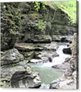 Water Flowing Through The Gorge Acrylic Print