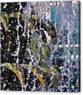 Water Fountain Blue Charleston Sc Acrylic Print by Lori Kesten