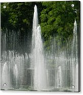 Water Fountain Show - Longwood Gardens In Pa Acrylic Print