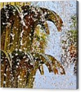 Water Fountain Yellow Charleston Sc Acrylic Print by Lori Kesten