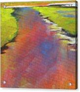 Water Garden Landscape 6 Acrylic Print