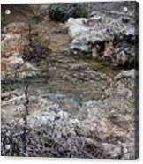 Water Going To The Falls Acrylic Print