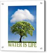 Water Is Life Acrylic Print