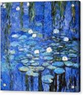 water lilies a la Monet Acrylic Print