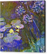 Water Lilies And Agapanthus 1917 Acrylic Print