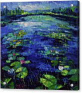 Water Lilies Magic Acrylic Print