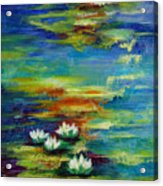 Water Lilies No 3. Acrylic Print