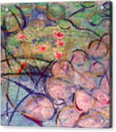 Water Lily Monotype Acrylic Print