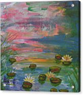 Water Lily Pond 2 Acrylic Print