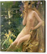 Water Nymph Acrylic Print by Gaston Bussiere