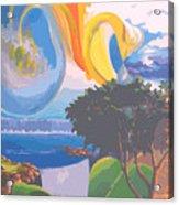 Water Planet Series - Vetor Version Acrylic Print