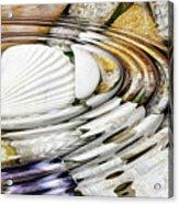 Water Ripples Above Sea Shells Acrylic Print