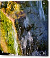 Water Running Over Rocks Acrylic Print