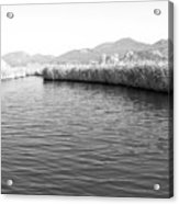 Water Scene In B And W Acrylic Print
