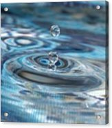Water Sculpture In Blue 1 Acrylic Print