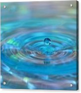 Water Sculpture Neon Blue 2 Acrylic Print